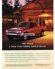 1997 TOYOTA Tacoma Red Pickup Truck Log Cabin Garage Vtg Print Ad