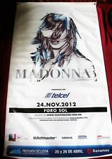 Madonna Scarce Eye Popping Mdna World Tour Mexico Promo Only Vinyl Banner Lp Sex