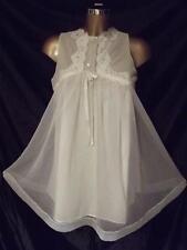 Vintage Gossard Mariage Blanc Double Sheer chemise de nuit avec dentelle taille S