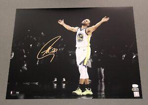 Stephen Curry signed Warriors autographed 16x20 NBA Spotlight photo JSA & USASM