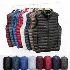 6762 Men's Ultralight Down Jacket Vest Puffer Coat Sleeveless Outdoor Waistcoat