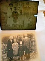 Glass Negative & Photograph print  FRANKLIN S. LAMAR & Family  Estate Genealogy