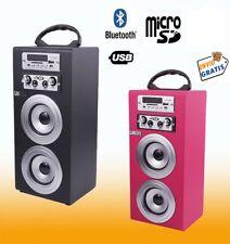 ALTAVOZ PORTATIL BLUETOOTH USB SD RADIO FM AUX BATERIA RECARGABLE CON KARAOKE