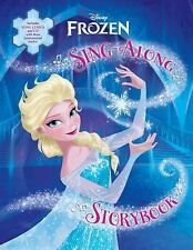 Frozen Sing-Along Storybook  Disney Book and music cd NEW illustrated hardcover