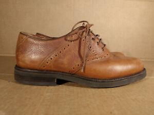 Vintage Johnston Murphy Mens 8 M Passport Brown Dress Shoes Leather Oxfords