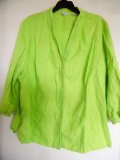 Laura Ashley Linen Blouse Top Shirt  3/4 Sleeve Button Up Sz 3X