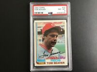 1982 Topps Baseball #30 Tom Seaver Cincinnati Reds (HOF) PSA 8 NM-MT!