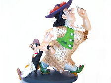 Albert Dubout *Partons cheri* dicke Frau u ihr kleines Männlein Skulptur 20609B