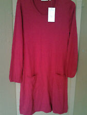 Round Neck Patternless Long Sleeve Dresses Midi