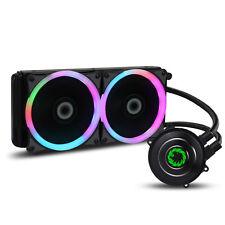 Juego Max Iceberg 240 mm Intel y AMD refrigeración por agua Sistema AIO Ventiladores PWM De 7 Colores