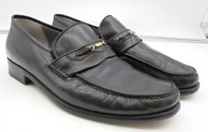 Church's Black Leather Moccasins Men's Size 7.5 Formal Shoes in Dust Bags