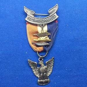 Boy Scout Eagle Scout Medal Rob 4 With 3 Palms Sterling