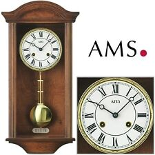 AMS 2614/1 Regulator with Pendulum 4/4 Westminster Wall Clock Living Room