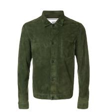AMI green suede shirt jacket