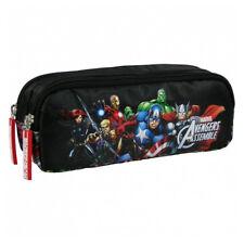 Avengers Pencil Case Pouch Tube School Marvel Assemble Black