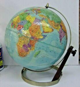 "Vintage Unique MID CENTURY REPOLGLE Stereo Relief Adjustable Globe 12"" diameter"