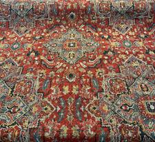 Upholstery Damask Taj Mahal Cinnabar Chenille Fabric By The Yard