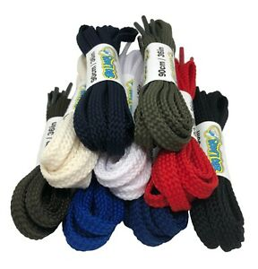 Flat Strong Shoelaces 7mm wide - 9 Colours - FREE UK P&P!
