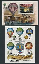 Belize #672-679 '1st MANNED FLIGHT', **MATCHING # S/S (2) & ORIG PRESS RELEASE**