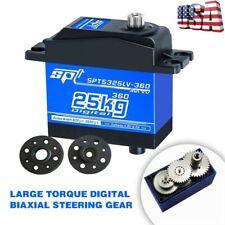 25KG Digital Servo SPT5325LV-360 Torque Metal Steering Gear for RC Car Robot US