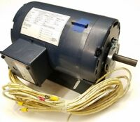 2 HP Electric Motor 3 Phase AC 1725 RPM, 208/230V 56H Frame Continuous Duty USA
