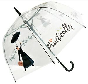 Mary Poppins Umbrella Practically Perfect Straight Clear, Transparent, Bespoke
