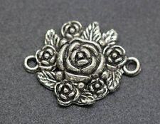 Free shipping 20pcs tibet silver exquisite flower charm connector 30mm