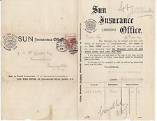 * 1897 assicurazione SOLE ufficio locale Pubblicità Lettera A J CURTIS Basingstoke