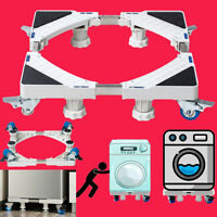 Adjustable Appliance Roller Mover Trolley Wheels Base Castors Washing Machine US