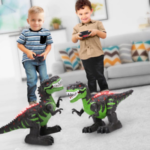 New Electric Remote Control Robot Large Dinosaurs Sound Light Walking Kid Toy