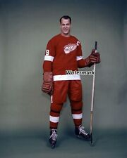 NHL Captain Gordie Howe Detroit Red Wings Color 8 X 10 Photo Picture Free Ship