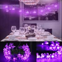 Solar Powered 50 LED Sakura String Fairy Light Outdoor Garden Wedding Party Lamp