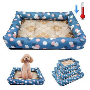 Dog Summer Sleeping Mat Soft Waterproof Cool Bed Pad Pillow for Pet Cat S M L XL