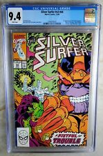 Silver Surfer #44 1st Infinity Gauntlet Marvel 1990 CGC 9.4 NM White Comic S0084