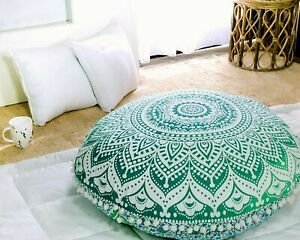 Large Floor Pillow Meditation Cushion Seating Throw Cover Hippie Decorative 82cm