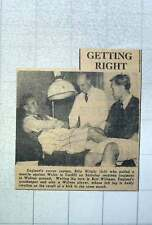 1949 England Soccer Captain Billy Wright Receiving Physio Treatment Bert William