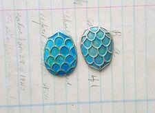 Turtle Shells (2) - Vprat6778 Verdigris Patina Dragon Eggs Mermaid Scales