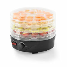 neu.haus® Dörrgerät Dörrautomat Obst und Gemüse Trockner Food Dryer Rund 250W