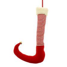 50cm Natale Rosso A Strisce ELF CALZINO CALZA Party Pick Decorazione da appendere