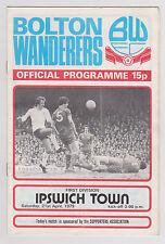 Programme / Programma Bolton Wanderers v Ipswich Town 21-04-1979