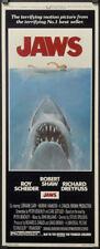 Jaws 1975 Authentic 14X36 Near Mint Movie Poster Roy Scheider Robert Shaw Horror