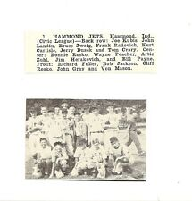 Hammond Jets Indiana 1953 Baseball Team Picture