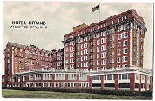 HOTEL STRAND Building ATLANTIC CITY NJ Postcard Vintage Unused US FLAG