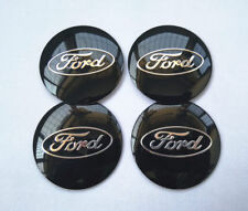 "4x 56mm 2.2"" Auto Car Wheel Center Cap Emblem Decal Sticker for Ford Black"