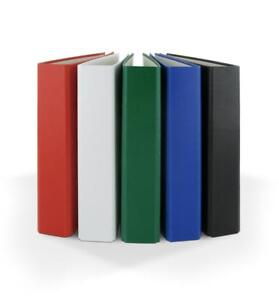 5x Ringbuch / DIN A5 / 2-Ring Ordner / Farbe: je 1x grün,weiß,rot,schwarz,blau