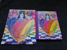 2 pc lot Lisa Frank PUPPY LOVE Sparkle Glitter Folder & Composition notebook