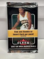 2007-08 FLEER NBA BASKETBALL FACTORY 1 SEALED PACK 8 CARDS- KEVIN DURANT RC HUNT