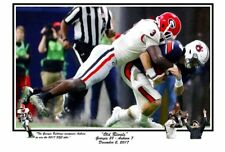 GEORGIA FOOTBALL BULLDOGS 2017 SEC CHAMPIONSHIP OLD RIVALS VS AUBURN L/E PRINT