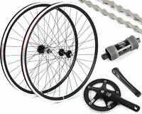 EighthInch Fixed Gear/Single Speed Conversion Kit 700c Wheelset Cranks // Black