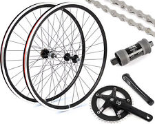EighthInch Deluxe 700c Black Wheelset // Fixed Gear/single Speed Conversion Kit